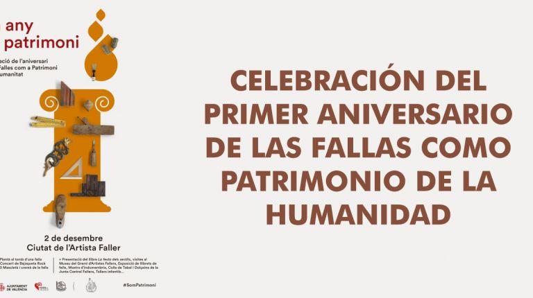 LA CELEBRACIÓN DEL PRIMER ANIVERSARIO DE LAS FALLAS COMO PATRIMONIO DE LA HUMANIDAD SE INICIARÁ CON LA PLANTÀ AL TOMBE DE UNA FALLA CONMEMORATIVA