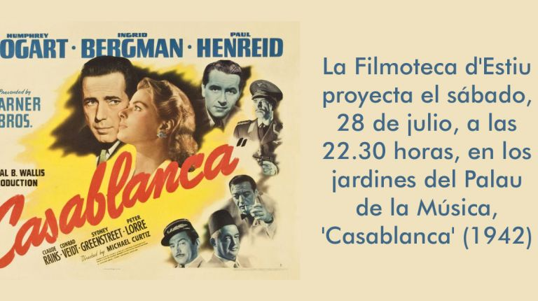EL IVC inaugura la Filmoteca d'Estiu con la proyección de 'Casablanca'