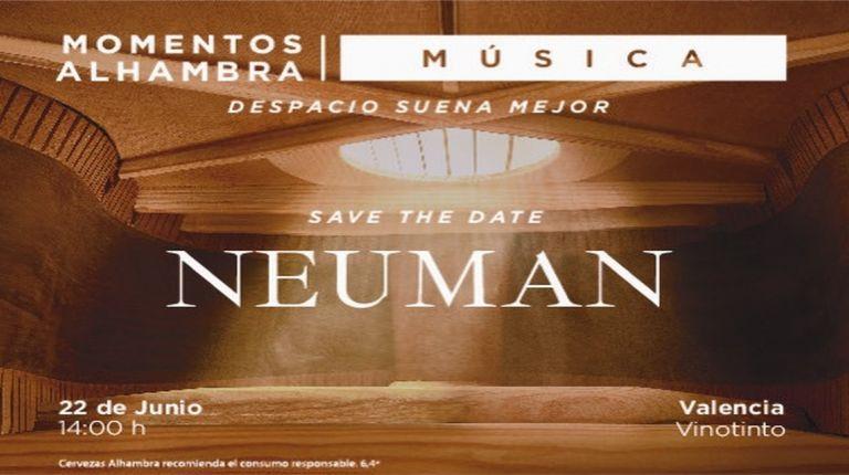 Cervezas Alhambra lleva sus 'Momentos sonoros' a Valencia  de la mano de Neuman