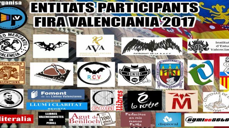 V Feria de entidades valencianistas, Feria Valenciana 2017