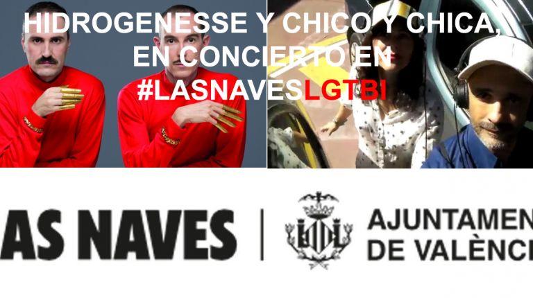 Hidrogenesse y Chico y Chica en concierto en #LasNavesLGTBI