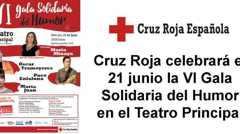 Cruz Roja celebrará el 21 junio la VI Gala Solidaria del Humor en el Teatro Principal
