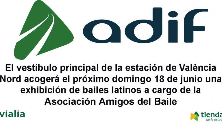 La estación de València Nord de Adif acoge una exhibición de bailes latinos