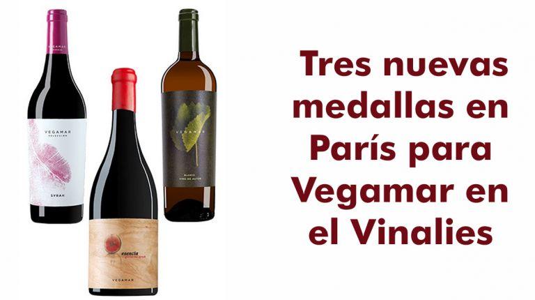 Tres nuevas medallas en París para Vegamar en el Vinalies