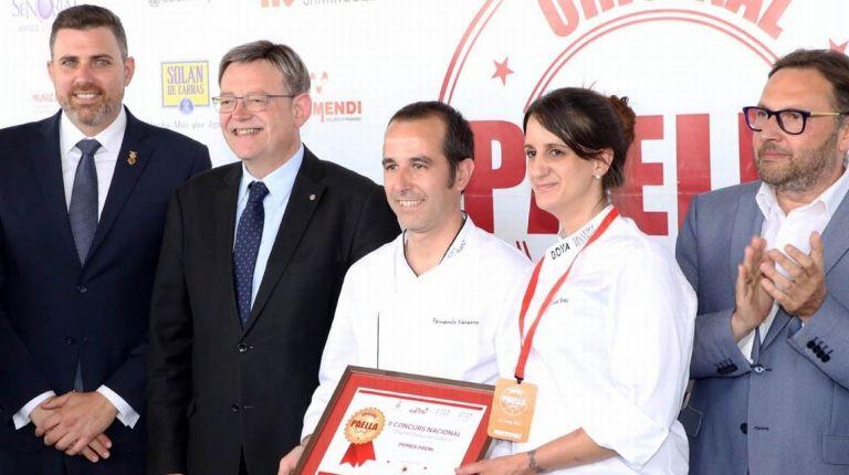 Puig asiste a la entrega de premios del II Concurso Nacional de Paella de Cullera
