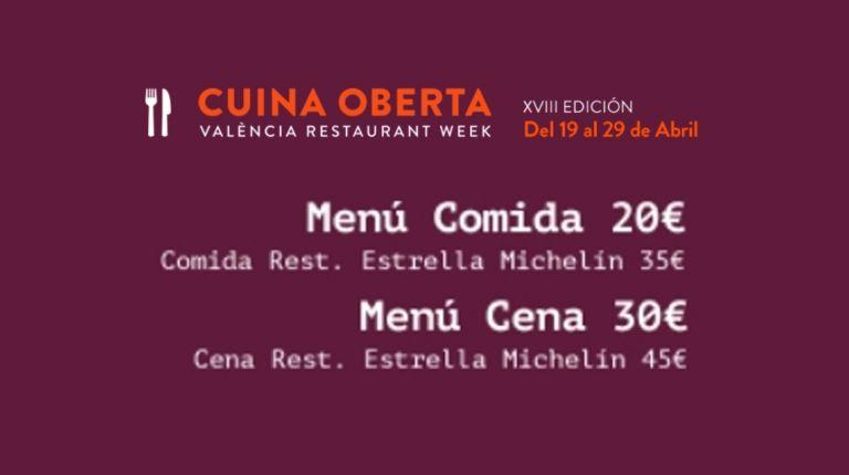 Abre el periodo de reservas para la XVIII Edición de Cuina Oberta de València
